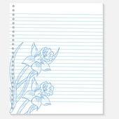 Sketch of flower on a notebook sheet — Vector de stock