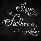 Happy Fathers Day vintage lettering background — Vettoriale Stock