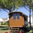 Gypsy caravan used as decoration — Stock Photo #53377685