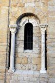 Architectural detail of the church of Saintes-Maries-de-la-Mer — Stok fotoğraf