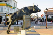 Vovo bull sculpture — Stock Photo