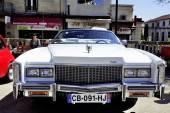 Before a white Cadillac Eldorado 1970 — Stock Photo