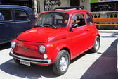 Fiat 500 red — Stock Photo