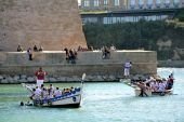 Jousting on the old port of Marseille — Stock Photo