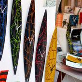 Handmade glass clocks — Stock Photo