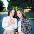 2 happy pretty sisters — Stock Photo #58505557