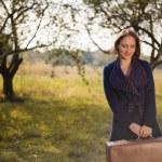 Woman in autumn park — Stock Photo #58536215