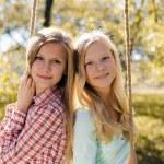 Two happy teenage girls — Stock Photo #58536283