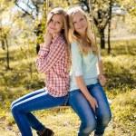 Two happy teenage girls — Stock Photo #58536289