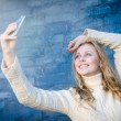 Lady making selfie — Stock Photo #58536405