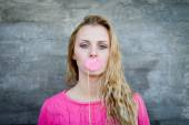 Young lady making faces — Stock Photo