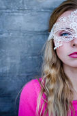Lady in  mask — Stock Photo