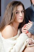 Young woman in knitwear — Stock Photo