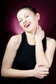 Beautiful laughing woman — Stock Photo