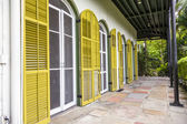 porch on the side of  Ernest Hemmingways house in Key West, USA — Stock fotografie