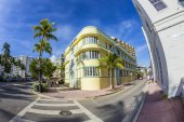 View at Ocean drive to Hotel The Barbizon — Stock Photo