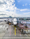 LH440 to Houston is ready for boarding — Stock Photo