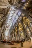 Service held in Central nave of Cologne Cathedral, Germany  — Stock Photo