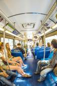 People in the downtown Metro bus in Miami, USA — Stock Photo