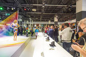 Models pose for visitors at  Photokina in Cologne — Stock Photo