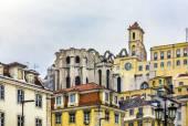 çatı igreja carmo kalıntıları lizbon'da açın — Stok fotoğraf