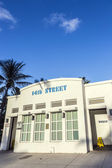 public restroom in art deco style at ocean drive — Stock Photo