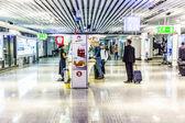 Pasażerów w hali odlotów — Zdjęcie stockowe