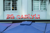 Night view at Ocean drive with The Carlyle hote — Foto Stock