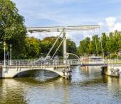 Draw bridge in Harlingen — Stock Photo