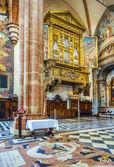 inside the basilica di San Zeno in Verona — Stock Photo