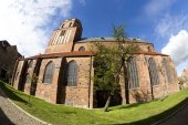 Gothic St Petri church in Wolgast — Stock Photo