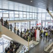 Public day for Frankfurt Book fair, visitors inside the hall — Stock Photo #55325323