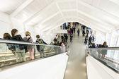 Public day for Frankfurt Book fair, visitors inside the hall — Stockfoto