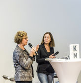 interview at FAZ meeting point with Barbara Klemm — Foto de Stock