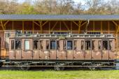Famous old train in station Seebad Heringsdorf — Stock Photo