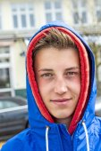 Handsome boy with anorak — Stock Photo