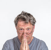 Portrait of man in sorrow  — Stock Photo