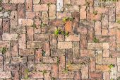 Red brick floor background — Stock Photo