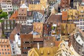 Aerial view of Strasbourg  to the old city — Stock Photo