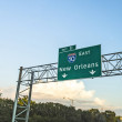 Exit sign New Orleans on interstate 10 — Stock Photo #56440435