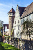 Old town of Michelstadt with city wall — Stock Photo