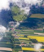 Rural landscape with fields near Krakow — Stock Photo