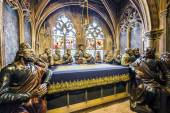Indoor scenery of the last supper in minster in Freiburg — Stock Photo