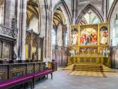 Beautiful altar of the minster in Freiburg — Stock Photo