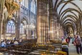 Igreja esculturas na catedral de strassbourg — Foto Stock