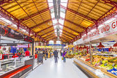 people shop in the old market hall i — Stock Photo
