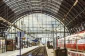 Inside the Frankfurt central station — Stock Photo