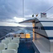 Arriving with ferry  VIDEOCOSTA SL in Playa Blanca — Stock Photo