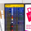 Flight information display screen board at airport of Arrecif — Stok fotoğraf #59131991