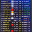 Flight information display screen board at airport of Arrecif — Stok fotoğraf #59132371